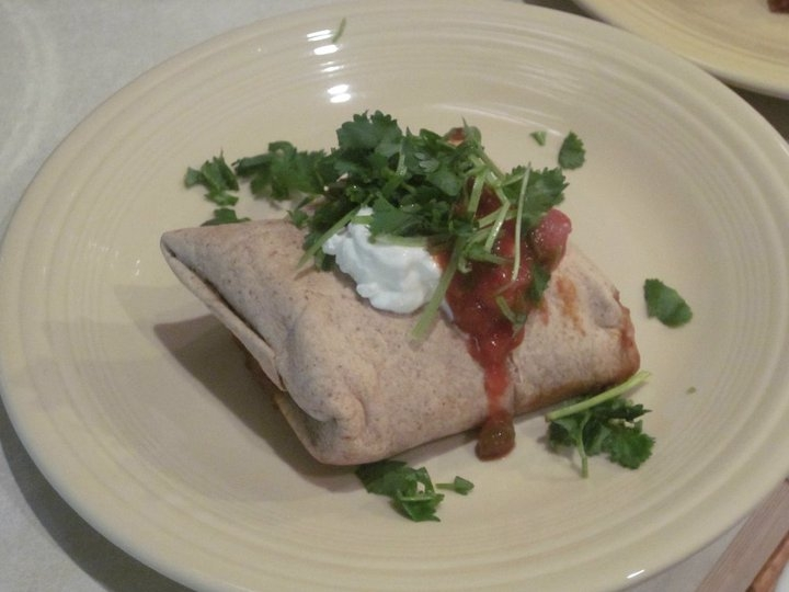 Baked Turkey Chimichanga